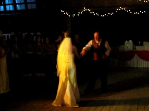 Carrie & Dad Dancing at Wedding Reception
