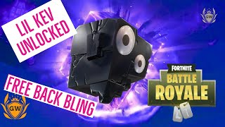FORTNITE LIL KEVIN UNLEASHED! UNLOCKED NEW FREE Lil Kev Back Bling gameplay! Fortnite Battle Royale!