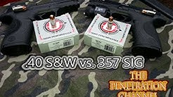 .40 S&W vs. 357 SIG (Part 6) (Underwood Extreme Penetrator Test)