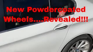 New Powder coated Wheel Reveal…