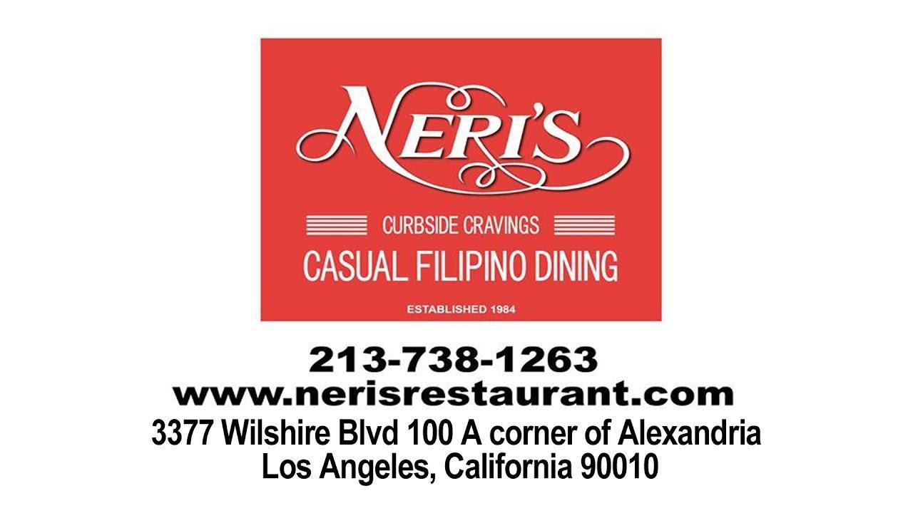 Neri's Casual Filipino Dining Restaurant Los Angeles Best Filipino Food
