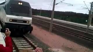 Llegada del primer tren a la estación de Villanueva de Córdoba - Los Pedroches