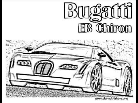 ColoringBuddyMike Bugatti Cars Coloring Pictures YouTube