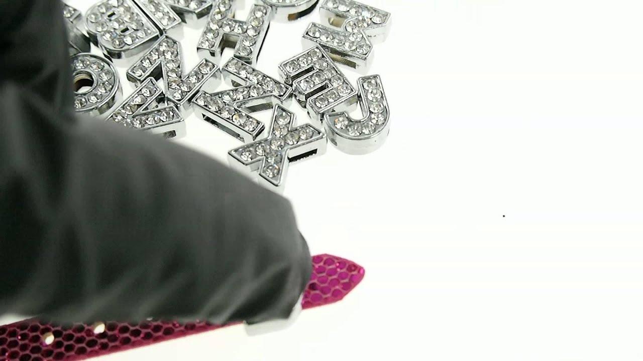 diamond crystal letters alphabet names bling embellishment wedding bridal shower