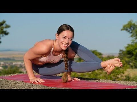 Day 1 Yoga Routine For Strength Astavakrasana Pose Eight Angle Arm Balance Pose