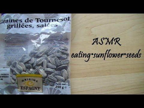 ♥ASMR♥ eating•sunflower•seeds