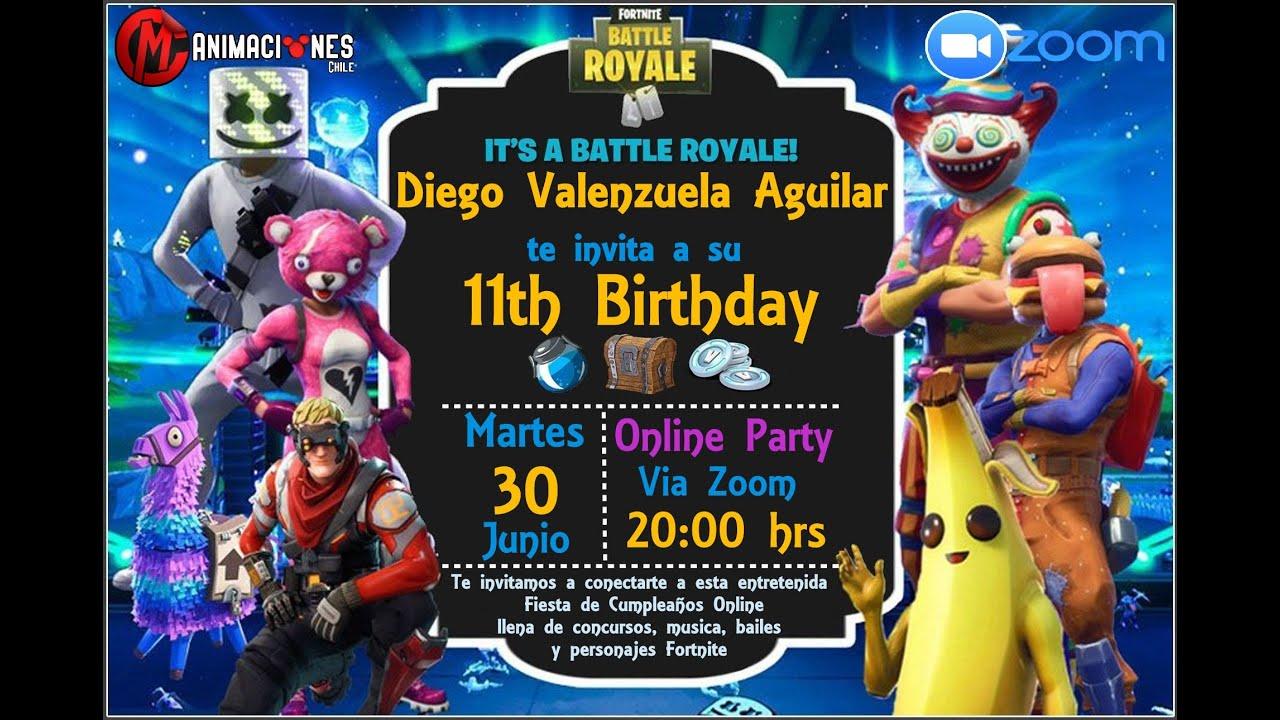 CUMPLEAÑOS ONLINE PARTY - DIEGO VALENZUELA