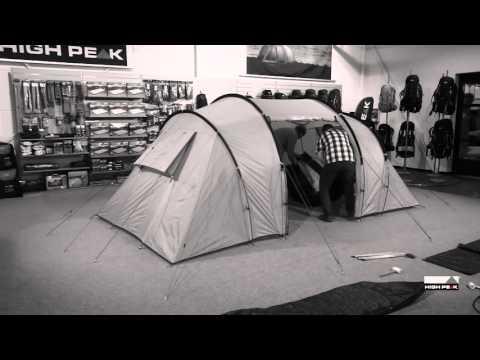High Peak Zelt Tauris 4 Aufbauvideo / setup video