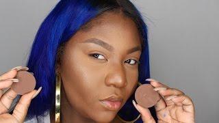 NEW Makeup Geek Contour Powders Demo & Review (Dark Skin)