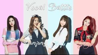 Video Wendy (Red Velvet) VS Yeunjung (WJSN) VS Yuju (Gfriend) VS Jihyo (Twice) -Vocal Battle (B4 - F#5 ) download MP3, 3GP, MP4, WEBM, AVI, FLV Juni 2018
