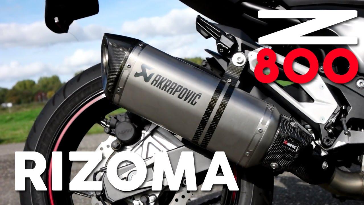 Kawasaki Z800 Rizoma Akrapovic Exhaust Sound