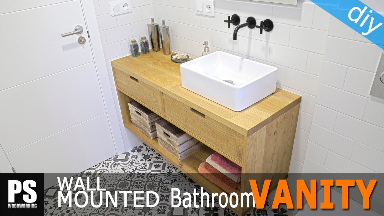 How To Make A Wall Mounted Bathroom Vanity Youtube