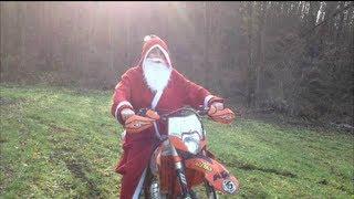 (Sketch,délire) Père Noël en moto - Ktm125 exc