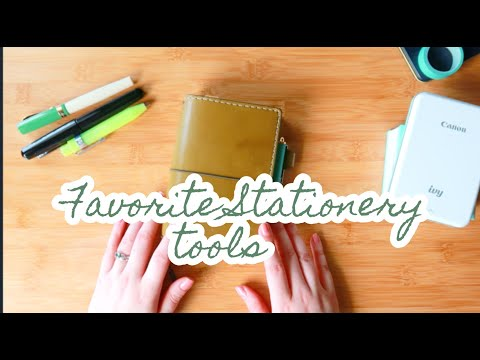Favorite Stationery Tools