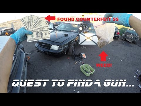 Searching Police Cars Found Counterfeit Money! Ford Crown Vic Cop Auto Explore