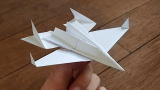 How To Fold A Paper Jet That ACTUALLY FLIES | F-14 Tomcat