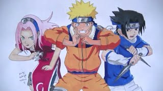 Ep41. How to draw Naruto, Sakura & Sasuke