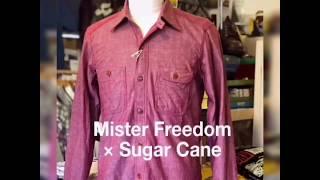 Mister Freedom × Sugar Cane MFSC 『SURPLUS』 5oz CHAMBRAY NIXON SHI...