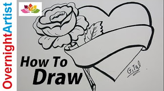 how to draw a best mom heart
