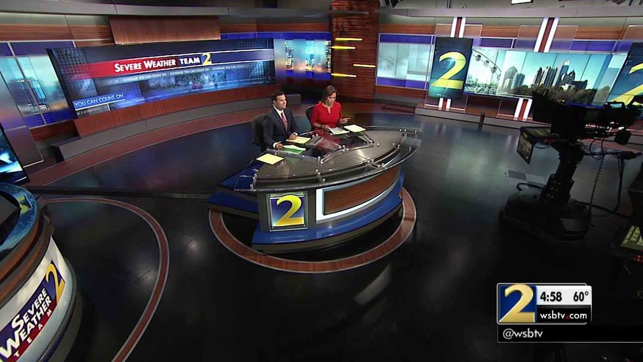 WSB-TV Atlanta - New Action News Set - 1-26-2016