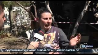 Campomarino, in fiamme bungalow al camping Smeraldo