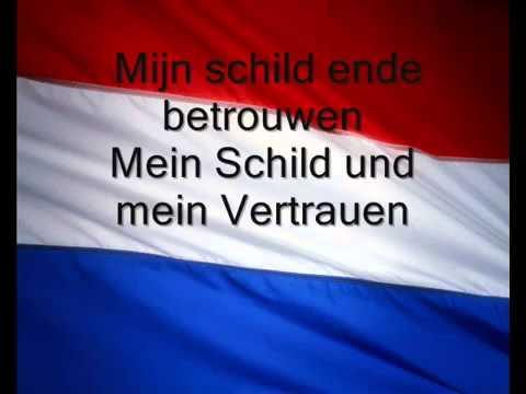 Nederlands volkslied  Dutch anthem Wilhelmus van Nassaue Vocaal Lyrics Dutch and German