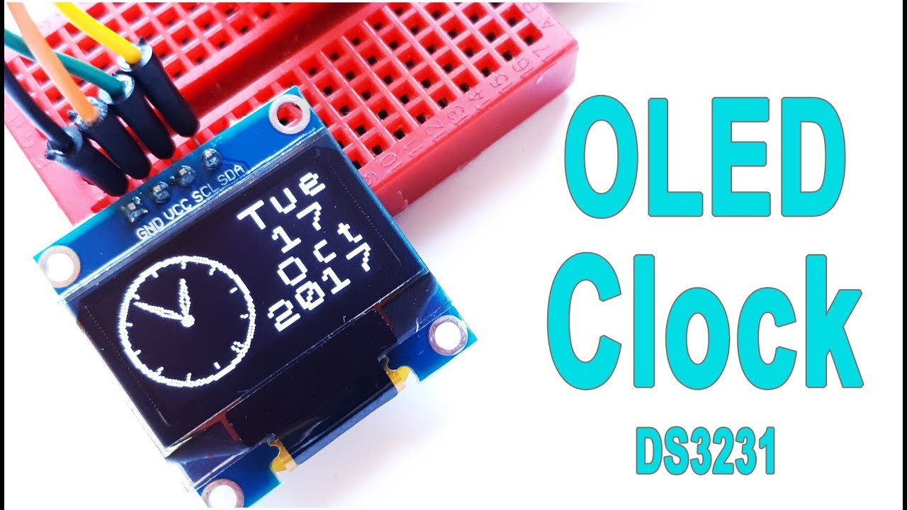How to Display a Simple Analog Clock on the OLED Screen | Arduino