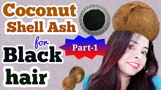 Coconut shell ash लगाओ, काले और घने बाल पाओ || coconut shell ash for grey hair and other uses