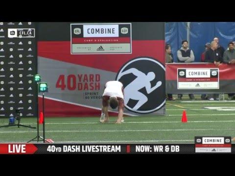 Brennan Van Nistelrooy - CFL National Combine 40-Yard Dash