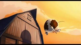 Phim hoạt hình 3d _ hài hước con bò mập biết bay haha