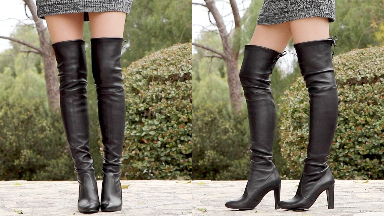 12a9c03b19d stuart weitzman highland over the knee boot review - YouTube