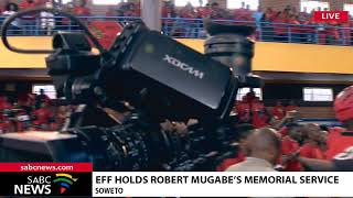 EFF holds a memorial service for the late Zimbabwean President Robert Mugabe