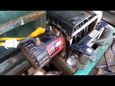 Как запитать проверить диагностировать мотор лебедки если сгорел блок соленоидов