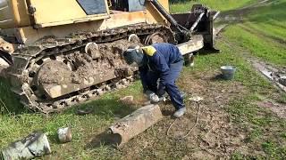 видео Главная передача с бортовыми фрикционами бульдозера Б10М