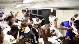 NCAT FOOTBALL LOCKER ROOM AFTER DEFEATING THE ECU PIRATES