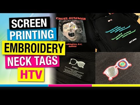 Up Sale Apparel By Combining Decorating Methods - Screen Printing, Embroidery, HTV, And Neck Tags