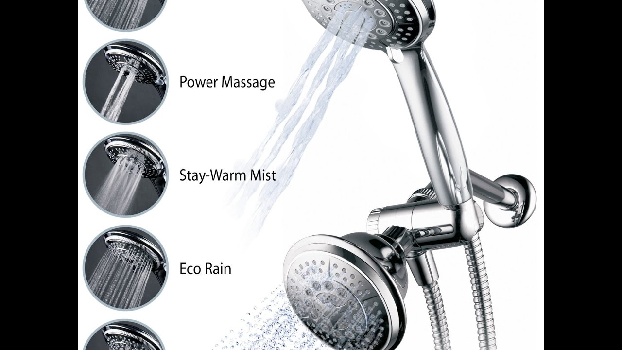 Hydroluxe Full Chrome 24 Function Ultra Luxury 3 way 2 in 1 Shower ...