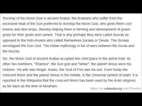 Why Jews & Arabs worship Moon God