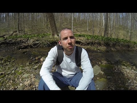 4/19/2014 Nature vlog by a trickling stream