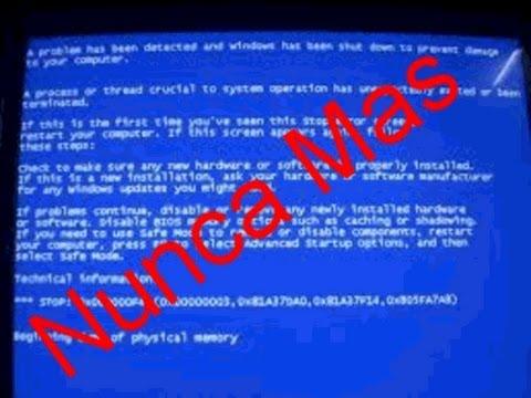 Desabilitacion De El Volcado De Memoria Fisica, Kernel, Etc - HD