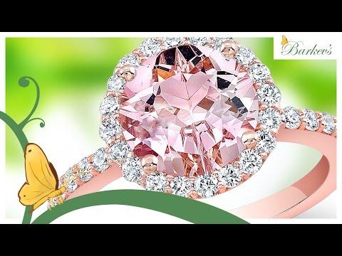 Stunning Pink Morganite Rose Gold Engagement Ring