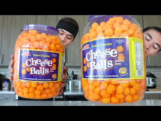 Double CHEESE BALL BARREL Challenge!! (ft. Morgan)