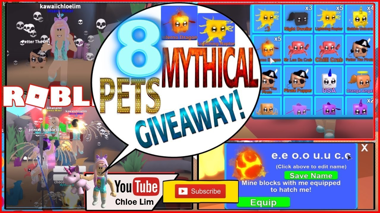 Roblox Gameplay Mining Simulator Hatching 10 Mythical Eggs 8