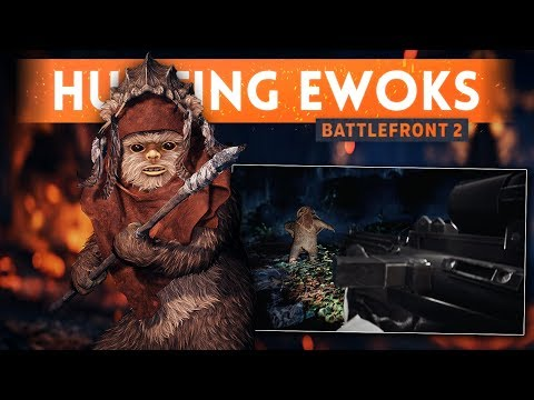 HUNTING EWOKS w BattlefrontUpdates!  Star Wars Battlefront 2 Ewok Hunt Mode Gameplay