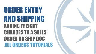 Add Freight on Sales Order or Ship Doc- All Orders- QuickBooks Inventory