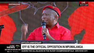 EFF leader Julius Malema's address at 6th anniversary celebrations