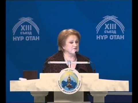 K. Prunskienės kalba Kazachstano valdančios partijos suvažiavime ir interviu TV