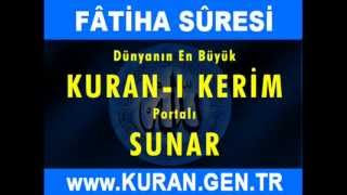 FATİHA Suresi - Kurani Kerim oku dinle video izle - Kuran.gen.tr