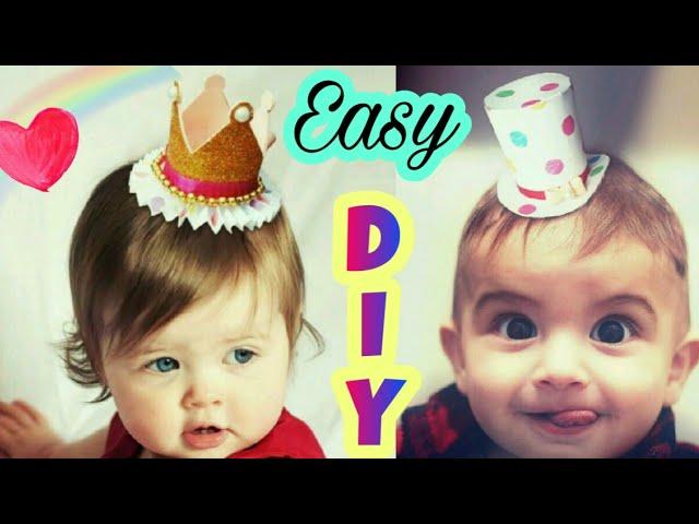 Diy Unique Kids Birthday Party Crown Birthday Caps Or Birthday Hats Youtube