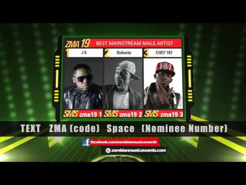 Nominees for Best MainStream Male - 2015 Mosi Lager Zambian Music Awards